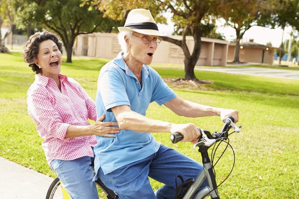 Sport bei Krebs altes Paar